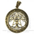 Bronze Cut Out Tree Pentacle Pendant