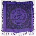 Sm Triquetra Altar Cloth - Purple