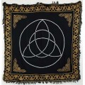 Triquetra Altar Cloth - Black