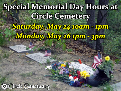 Circle Sanctuary Memorial Day